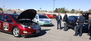 Findlay Automotive and NV Energy supplied two Chevy Volts and a Toyota Prius Hybrid for first responder training