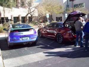 Don Carrier demonstrates his Tesla Motors Model S