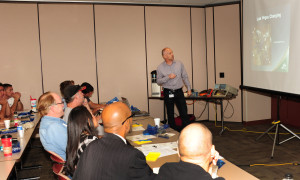 Travis Johnson conducts EV 101 training during first hour of EVITP workshop