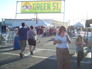 First Fridays Green Street celebration on May 3rd featured a Tesla Motors Model S, NV Energy Chevy Volt fleet vehicle and a Subaru Brat conversion by the Las Vegas Electric Vehicle Association