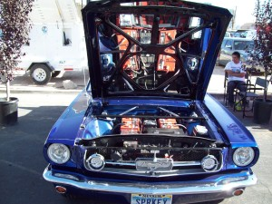 1965 Mustang Fastback converted to an electric vehicle by Larry Gareffa and family.