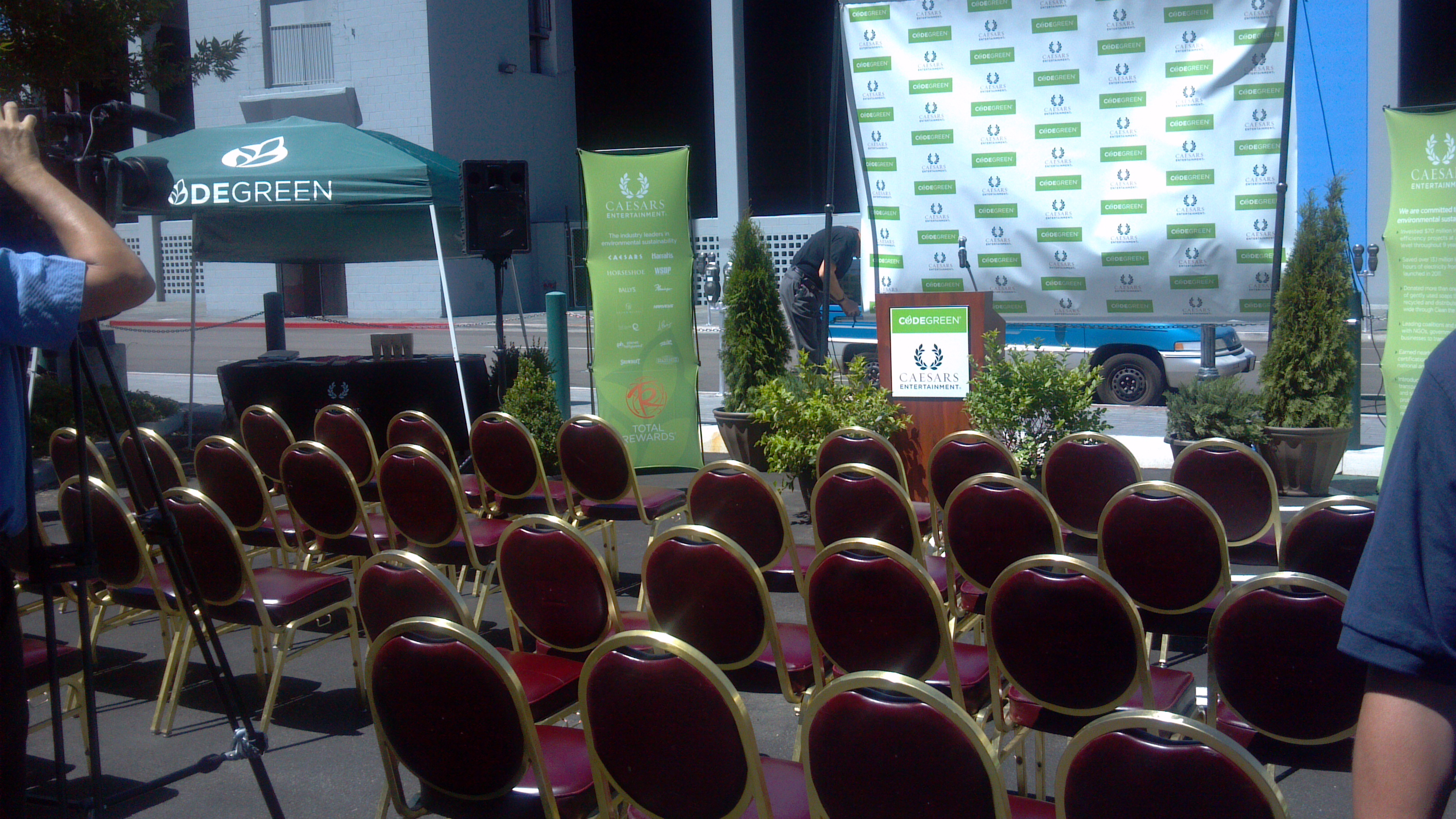 Caesars Entertainment unveils its CodeGreen EVSE installation project on August 16th at Harrah's Reno.
