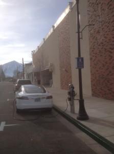 Gardnerville, Nevada public EV charging station.