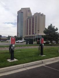 Atlantis Casino Resort Spa has added two Tesla Motors High-Power EV charging stations to its parking lot near the existing ChargePoint SAE J1772 AC Level 2 stations.