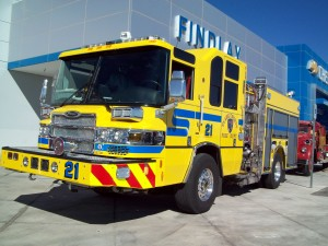 New Fire Engine at Clark County Fire Station 21