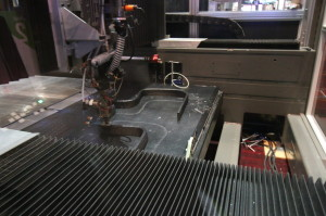 Printing the Strati electric car peripheral components.