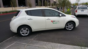 NV Energy fleet Nissan LEAF driven by Marie Steele, EV and Renewable Energy Manager.