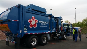 Republic Services CNG-powered Garbage Truck