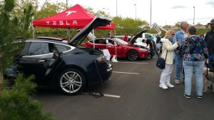 Tesla Motors Booth in Green Vehicle Zone