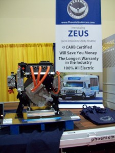 Zeus AC Motor System from Phoenix Motorcars provides EV conversion capability for Ford F-350 or F-450 trucks.