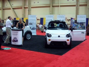 GreenTech Automotive MyCar NEV exhibit.