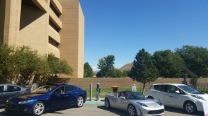 Plug-in electric cars convene at NV Energy Reno campus during National Drive Electric Week.