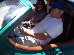 Test drive by Evan Eskelson of an electric car conversion built from a 1974 Aztec kit car.