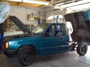 1987 Mitsubishi Mighty Max electric truck conversion project.