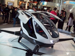 Ehang 184 autonomous drone can carry one passenger weighing up to 220 lbs. for 23-minute  flights.