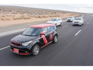 Kia Motors recently received red license plates from the Nevada DMV to test the Kia Soul EV autonomous vehicle on Nevada roads.