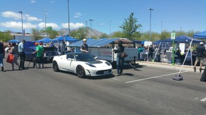 David Morse displayed his Tesla Motors Roadster