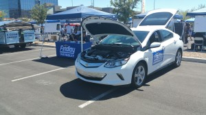Findlay Chevrolet displayed the newest model of the Chevy Volt, now with over 50 miles of electric-only range and a total range of 420 miles extended.