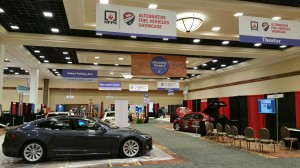 NFPA 2016 featured an Alternative Fuel Vehicle Showcase that included a Tesla Motors Model S, Chevrolet Volt, Ford Fusion Hybrid and Honda Civic NGV.