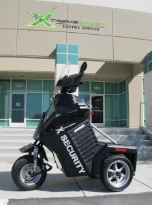 Xtreme Green Vehicles manufactures three-wheel, electric security vehicles as well as electric ATVs.