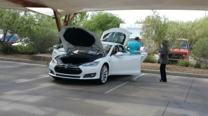 Tesla Motors Model S was presented by owner Bonnie Lemert