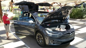Tesla Motors Model X presented by owner Rufus Perry, Sr. during Las Vegas NDEW event at Springs Preserve.