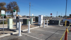 Fallon installation of the Nevada Electric Highway includes both SAE J1772 AC Level 2 and DC Fast Charge stations on the ChargePoint network.
