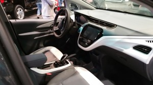 Interior of Chevrolet Bolt EV  featuring a touch-screen console.