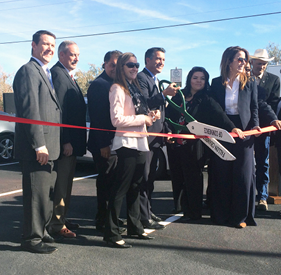 Ribbon-cutting ceremony at Fox Peak Station recharging site in Fallon along Nevada Electric Highway.