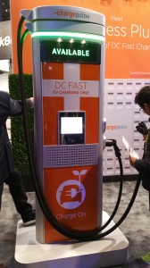 ChargePoint Express Plus DC Fast Charge System will employ up to eight 50-kW modules to provide as much as 400 kw of charging speed.