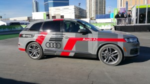 Audi AI self-driving car, based on Q7 model.