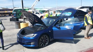 Tesla Model S featured at Southern Nevada Strong EV showcase.