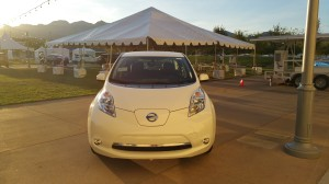 United Nissan provided a LEAF electric car to display at GreenFest 2017.