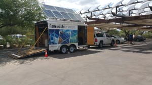 NV Energy Renewable Generations Program provided educational trailer exhibit.