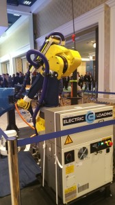Power and control system for Fanuc robot recharging attendant integrated by Electric Loading