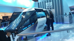 Bell Helicopters exhibited a simulated version of a future automated Air taxi.