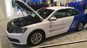 Delpi Technologies displayed internal component systems that will enable 800-volt electric drive trains.