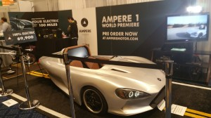 The Ampere 1 three-wheel electric motorcycle from Ampere