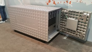 ChargePoint Powerbank modules can be stacked to scale the supply of electric power to DC Fast Charge stations from 50 kW to 350 kW.
