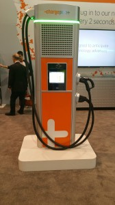 ChargePoint DC Fast Charge System with both ChadeMo and CCS plugs